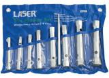 Laser Tools LAS-2457 csőkulcs készlet hajtószárral, 8+1 részes