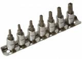 """Laser Tools LAS-3389 1/4""""-os rátűzőkulcs készlet, lyukas torx, 7 részes"""