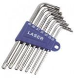 Laser Tools LAS-3498 L-alakú 5-ágú furatos torxkulcs készlet, 7 részes