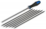 Laser Tools LAS-3992 marok hajtó + 7 db 300 mm hosszú szár (torx és furatos torx), 14 méret