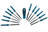 Laser Tools LAS-5114 precíziós reszelő készlet, 120 mm-es cserélhető pengék, 12 részes
