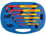 Laser Tools LAS-5515 VDE szigetelt L-alakú imbuszkulcs készlet 1000 V-ig, metrikus, 6 részes