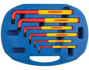 Laser Tools LAS-5515 VDE szigetelt L-alakú imbuszkulcs készlet 1000 V-ig, metrikus, 6 részes termék fő termékképe