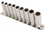 """Laser Tools LAS-5692 1/4""""-os 6 lapú dugókulcs készlet, hosszú, colos, 9 részes"""