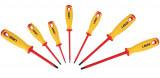 Laser Tools LAS-5986 VDE szigetelt csavarhúzó készlet 1000 V-ig (lapos, Phillips), 7 részes