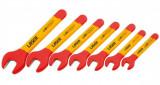 Laser Tools LAS-6048 VDE szigetelt villáskulcs készlet, metrikus, 7 részes
