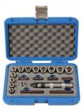 """Laser Tools LAS-6219 3/8""""-os csavarkiszedő készlet sérült fejű csavarokhoz és anyákhoz, 20 részes"""