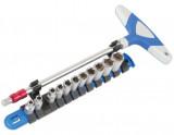 """Laser Tools LAS-6346 1/4""""-os dugókulcs készlet T-hajtókarral motorkerékpárokhoz, 12 részes"""
