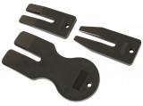 Laser Tools LAS-6606 ajtókárpit patent kiszedő ék készlet, VW Polo MK V, 3 részes