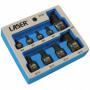 """Laser Tools LAS-6725 1/4"""", 3/8"""", 1/2""""-os gépi rátűzőkulcs készlet, extra alacsony, XZN, M4-M18, 9 részes"""