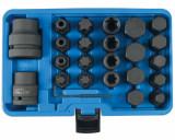 """Laser Tools LAS-6891 3/4"""" és 1""""-os teherautós gépi bitkészlet, imbusz, torx, XZN, E-torx, 24 részes"""