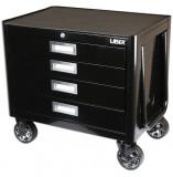 Laser Tools LAS-6990 gurulós szerszámos szekrény lehajtható húzófogantyúval, 4 fiókos