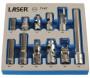 """Laser Tools LAS-7147 dugókulcs és adapter készlet, 10 mm, 1/4""""-3/8"""", 11 részes"""