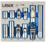 """Laser Tools LAS-7148 dugókulcs és adapter készlet, 13 mm, 1/4""""-3/8"""", 11 részes"""