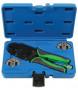 Laser Tools LAS-7248 racsnis saruzó fogó szigeteletlen sarukhoz, DIN 0.35-3.0 mm2 + cserélhető fejek