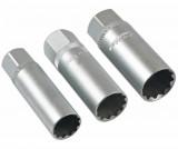 """Laser Tools LAS-7295 3/8""""-os, 12-lapú, vékony falú gyertya dugókulcs készlet, 14, 16, 18 mm"""
