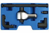 Laser Tools LAS-7318 főtengely szíjtárcsa ellentartó-rögzítő, nyomatéksokszorozó készlet (Ford EcoBoost 1.0)