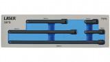 """Laser Tools LAS-7372 3/8""""-os gépi toldószár készlet, 5 darabos"""