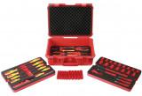 """Laser Tools LAS-7383 3/8""""-os VDE 1000 V-os szigetelt szerszám készlet hibrid autókhoz, 50 részes"""