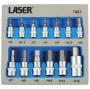 """Laser Tools LAS-7497 1/4"""", 3/8"""" és 1/2""""-os rátűzőkulcs készlet, imbusz, 2-14 mm, 13 részes"""
