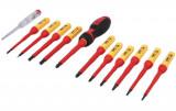Laser Tools LAS-7939 VDE szigetelt csavarhúzó készlet 1000 V-ig (lapos, phillips, pozidriv, torx + fázisceruza), 13 részes