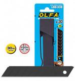 Olfa LBB-30B tördelhető penge, fekete, 18 mm, 30db/csomag