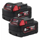 Milwaukee M18 B52 REDLITHIUM-ION™ akkumulátor, 18 V, 5.0 Ah, 2db/csomag