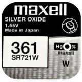 Maxell SR721W 1.55V ezüst-oxid gombelem