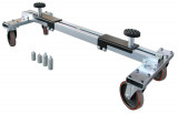 PowerTec PWT-92516 extra erős, állítható gépkocsimozgató segédkeret, fékezhető, 2.4 - 3.1 t
