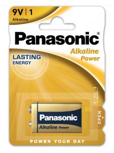 Panasonic 6LR61APB-1BP ALKALINE POWER alkáli tartós elem, 9 V-os hasáb, 1db/bliszter termék fő termékképe