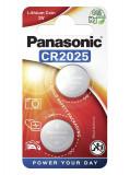 Panasonic CR2025 3V lítium gombelem, 2db/bliszter