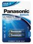 Panasonic LR03EGE-2BP EVOLTA szupertartós alkáli elem, AAA (micro), 2db/bliszter