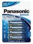 Panasonic LR6EGE-4BP EVOLTA szupertartós alkáli elem, AA (ceruza), 4db/bliszter