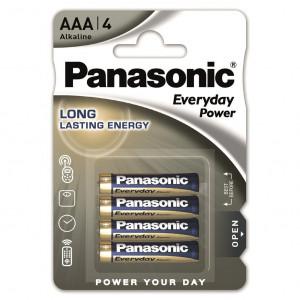 Panasonic LR03EPS-4BP EVERYDAY POWER alkáli tartós elem, AAA (micro), 4db/bliszter termék fő termékképe