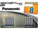 Panasonic LR03EPS-8BW EVERYDAY POWER alkáli tartós elem, AAA (micro), 8db/bliszter