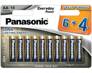 Panasonic LR6EPS-10BW6-4F EVERYDAY POWER alkáli elem, AA (ceruza), 10db/bliszter termék fő termékképe