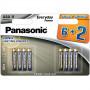 Panasonic LR03EPS/8BW 6+2F EVERYDAY POWER alkáli tartós elem, AAA (micro), 8db/bliszter