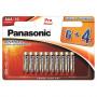 Panasonic LR03PPG-10BW-6-4 PRO POWER alkáli tartós elem, AAA (micro), 10db/bliszter