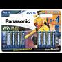 Panasonic LR6EGE/8BW 4+4 EVOLTA Power Rangers szupertartós alkáli elem, AA (ceruza), 8db/bliszter