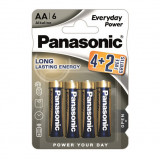 Panasonic LR6EPS-6BP-4-2F EVERYDAY POWER alkáli elem, AA (ceruza), 6 db/bliszter
