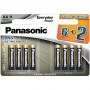 Panasonic LR6EPS/8BW 6+2F EVERYDAY POWER alkáli tartós elem, AA (ceruza), 8db/bliszter