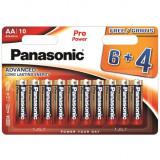 Panasonic LR6PPG-10BW-6-4 PRO POWER alkáli tartós elem, AA (ceruza), 10db/bliszter
