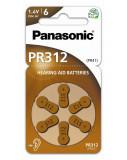 Panasonic PR312L/6LB cink-levegő elem, PR41, 6db/bliszter