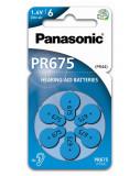 Panasonic PR675/6LB cink-levegő elem, PR44, 6db/bliszter