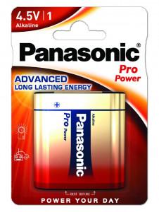 Panasonic 3LR12PPG-1BP PRO POWER alkáli tartós elem, 4.5 V-os lapos, 1db/bliszter termék fő termékképe