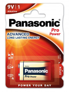 Panasonic 6LR61PPG-1BP PRO POWER alkáli tartós elem, 9 V-os hasáb, 1db/bliszter termék fő termékképe