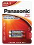 Panasonic LR03PPG-2BP PRO POWER alkáli tartós elem, AAA (micro), 2db/bliszter