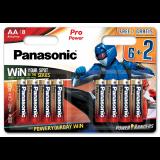 Panasonic LR6PPG/8BW 6+2 PRO POWER alkáli tartós elem, AA (ceruza), 8db/bliszter