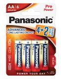 Panasonic LR6PPG-6BP4-2 PRO POWER alkáli tartós elem, AA (ceruza), 6db/bliszter