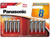 Panasonic LR6PPG-8BW PRO POWER alkáli tartós elem, AA (ceruza), 8db/bliszter
